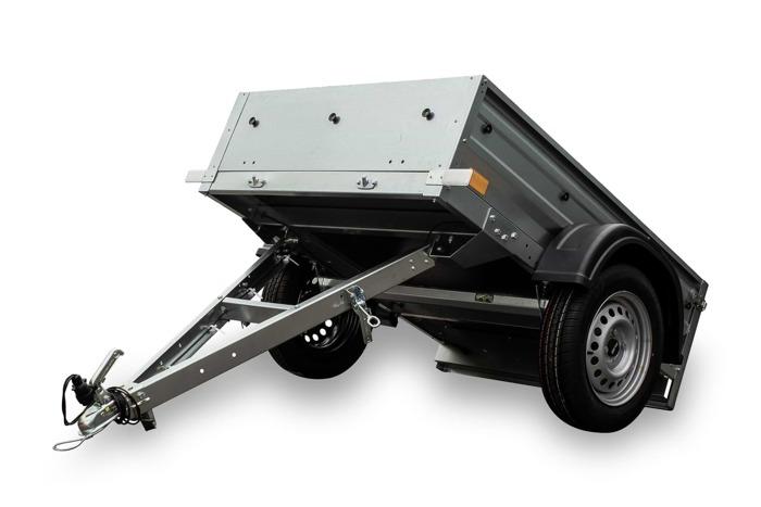 1-akslet trailer 150 x 106 Totalvægt 750 kg Garden Trailer 150 Unitrailer