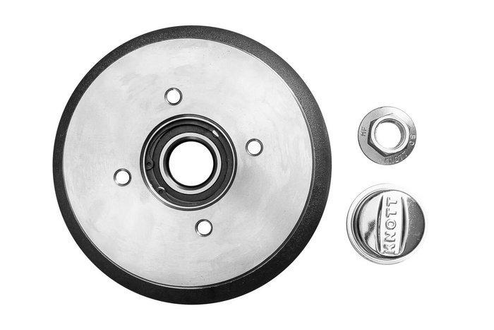 Bremsetromle med leje KNOTT 200x50 4x98