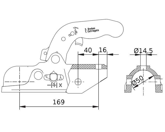 Kuglekobling KNOTT KF27A M14