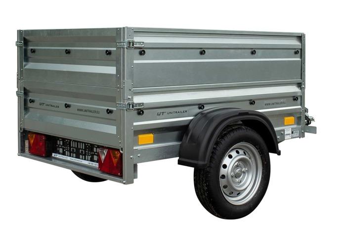 Tiptrailer 150 x 106 med ekstra sidesæt totalvægt  750 KG Garden Trailer 150 Unitrailer