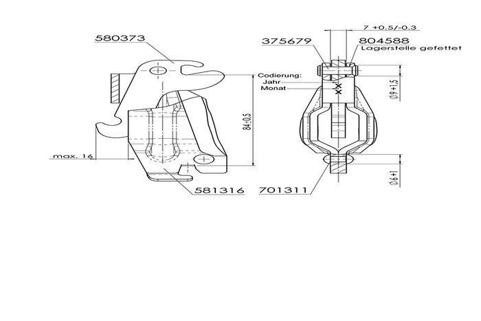 Udvekslingsled til bremsetromle AL-KO 200x50 og 230x60 Knæled